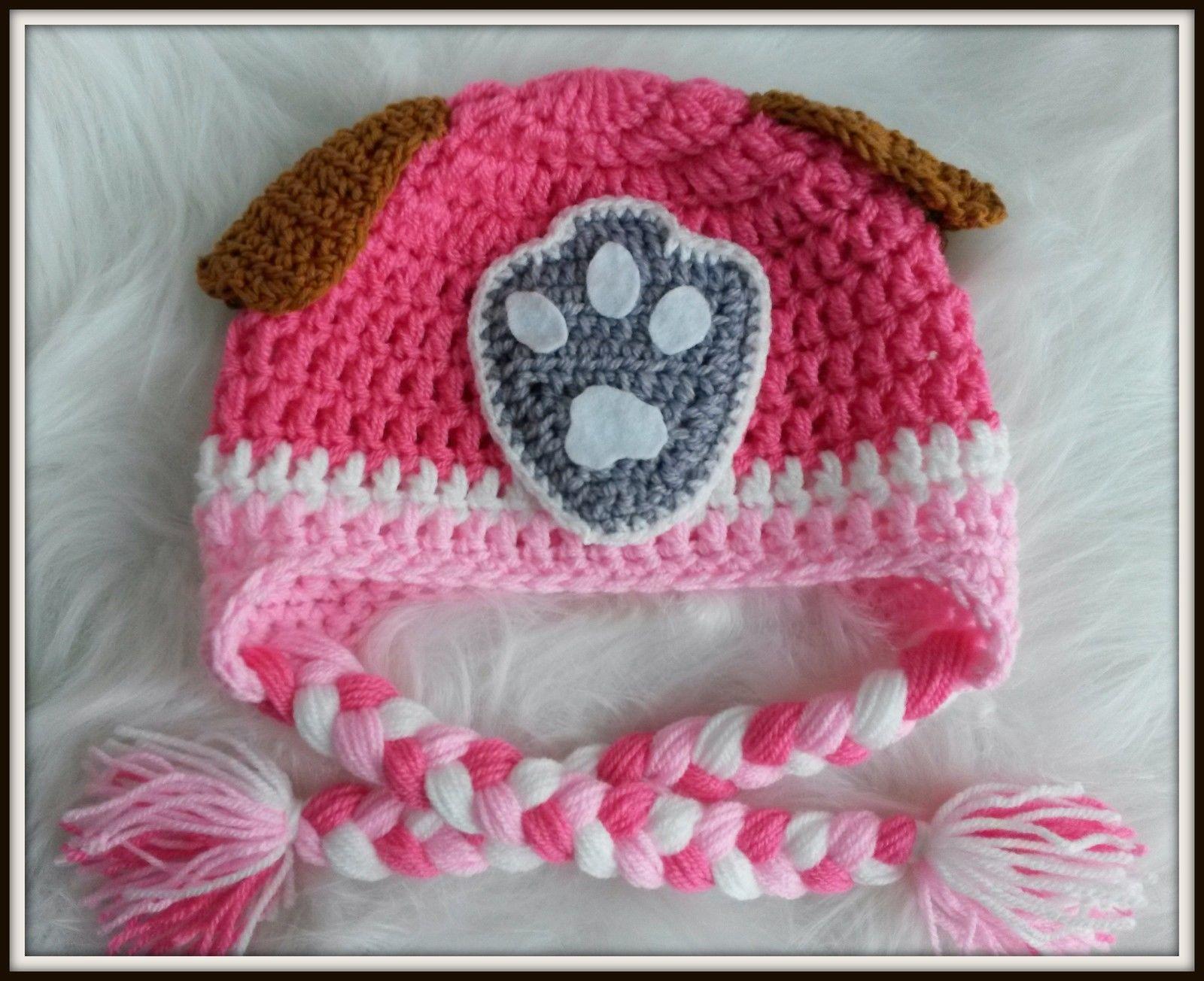 Paw Patrol SKY, Puppy Crochet Hat, and Photo Prop FANCY DRESS   Wolle