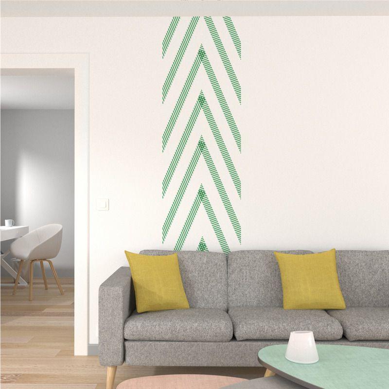 Masking tape RAYE coloris vert Tapas, Déco maison et Deco murale