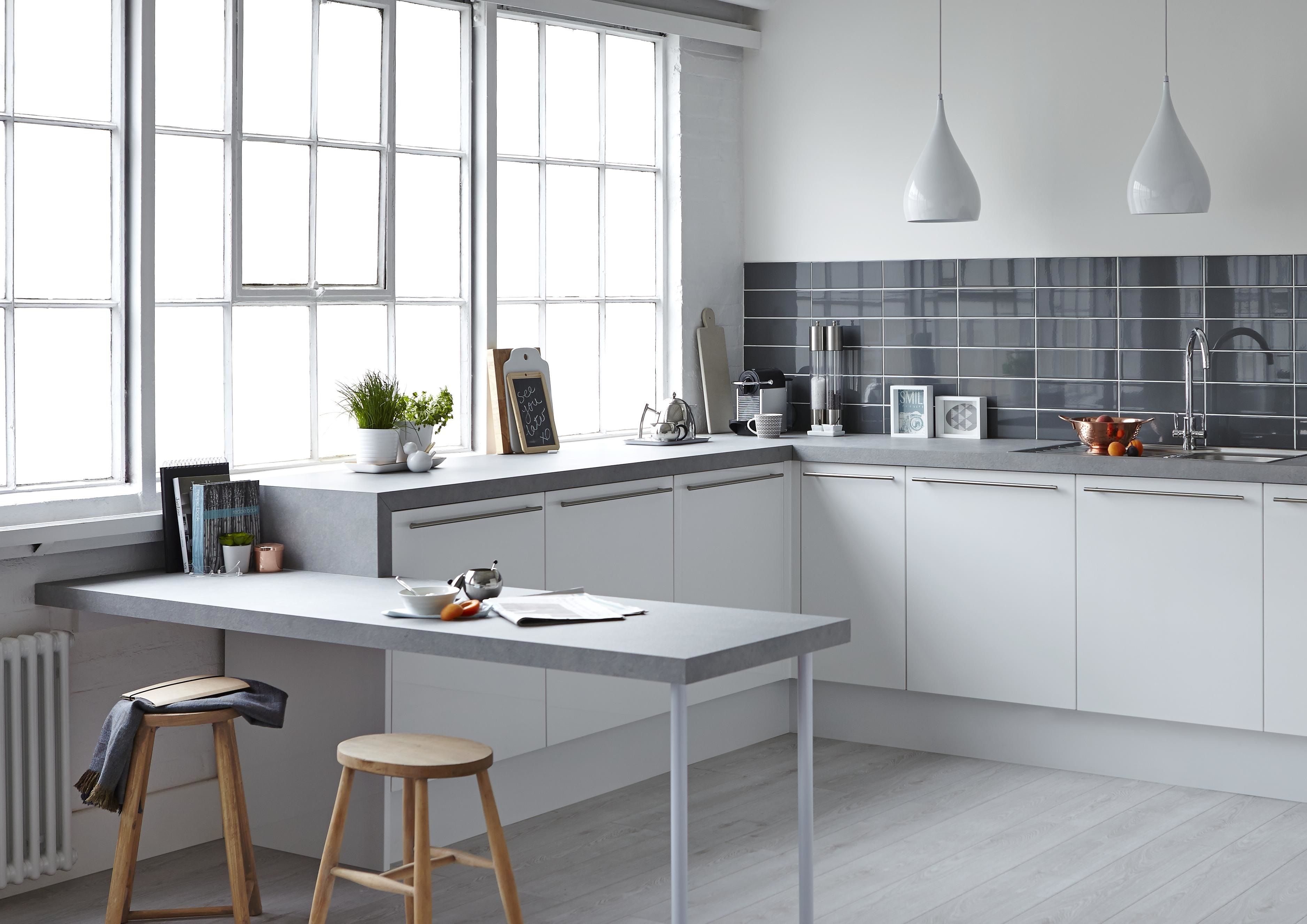 Soft greys add warmth and light to your room. Pair with