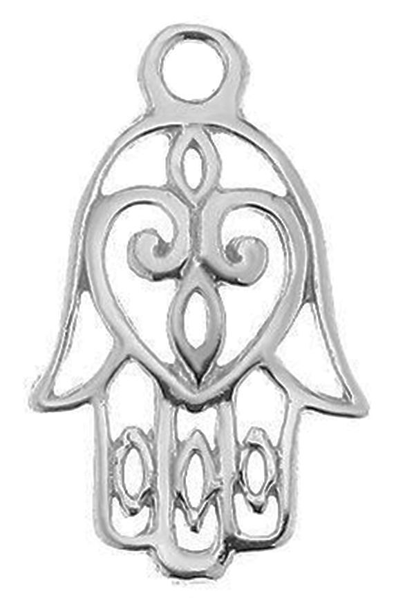 20 X 12 MM 1 STERLING SILVER 925 HAMSA LUCKY HAND CHARM PENDANT