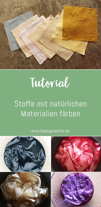 Stoffe mit natürlichen Materialien färben Kreativlabor Berlin