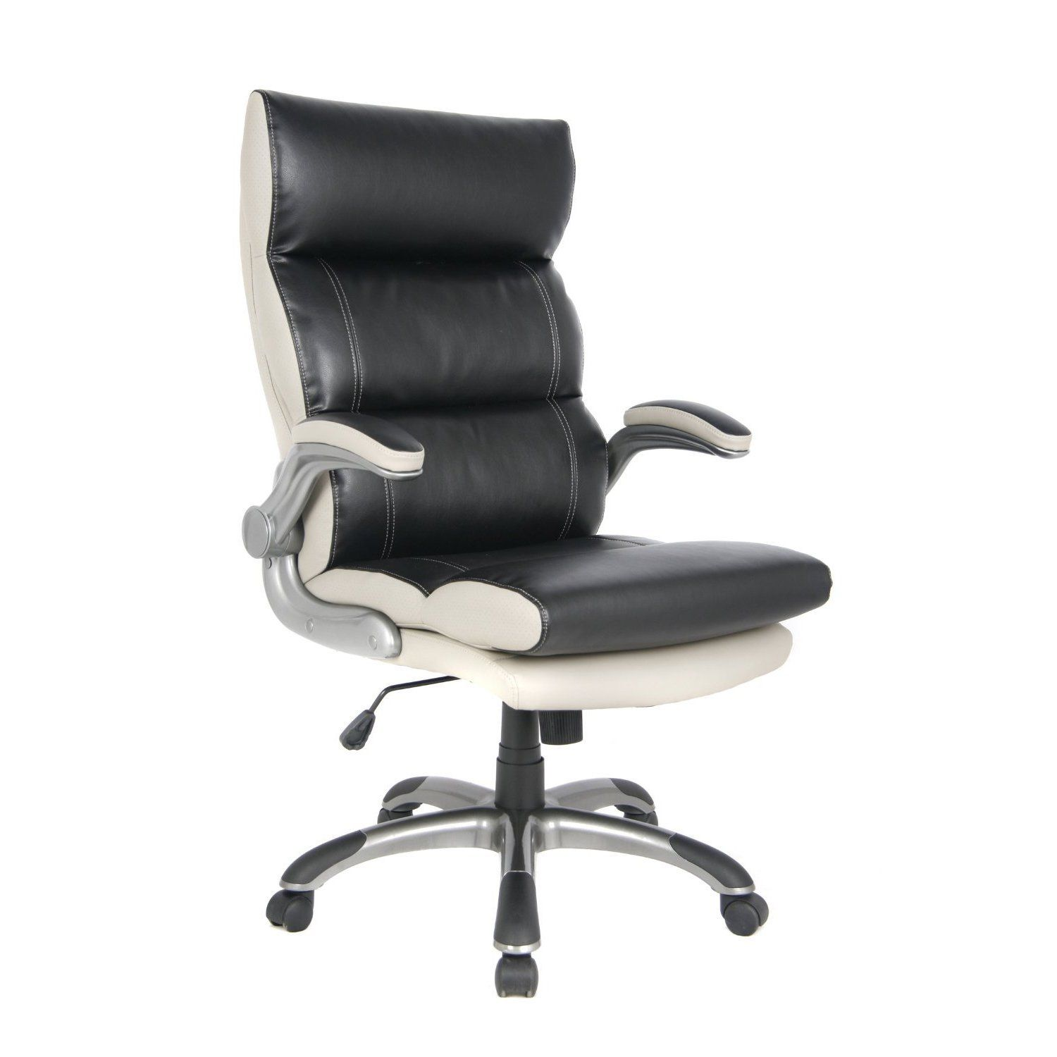 This ergonomic high back bonded leather managerial chair is