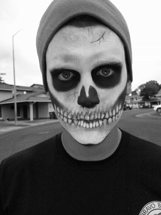 Skeleton makeup by Shaleena Beard scissorgurl9 instagram - Make Up Halloween Man