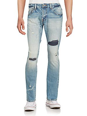 Cult Of Individuality Distressed Washed Jeans - Dove - Size 3