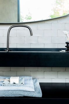 Photo of Black basin mixer from byCOCOON.com | black faucet | designer bathroom | luxury …