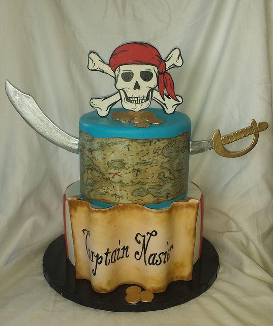 Pirate birthday cake | Micks' Sweets - Flickr - Photo Sharing!