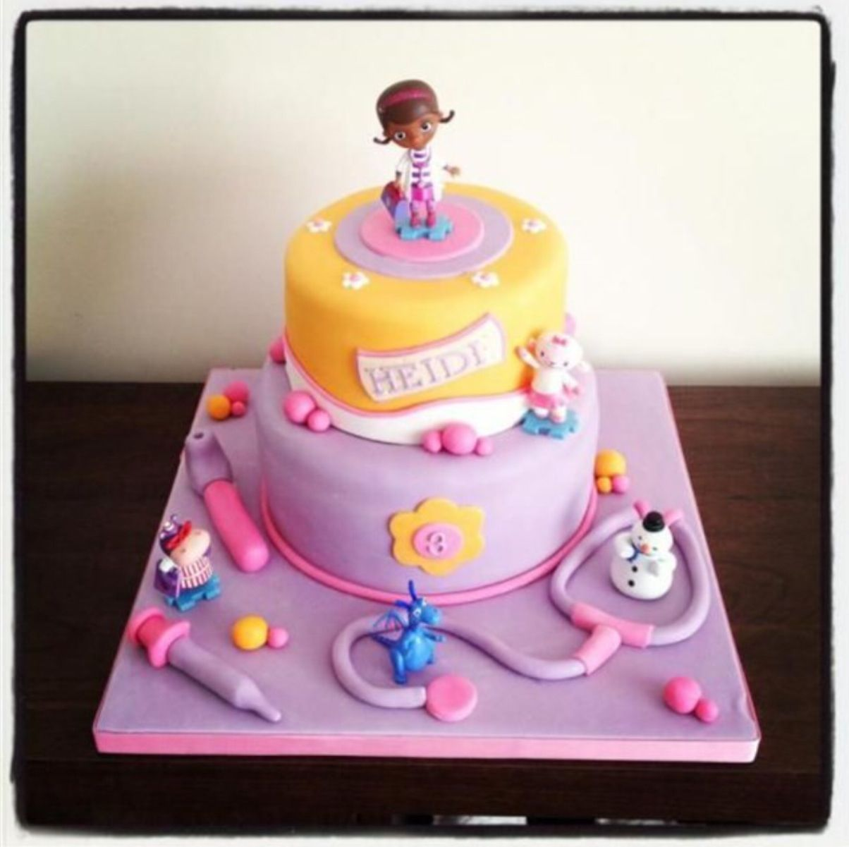 Dr la peluche NS 2nd Bday Pinterest Cake Birthday cakes and