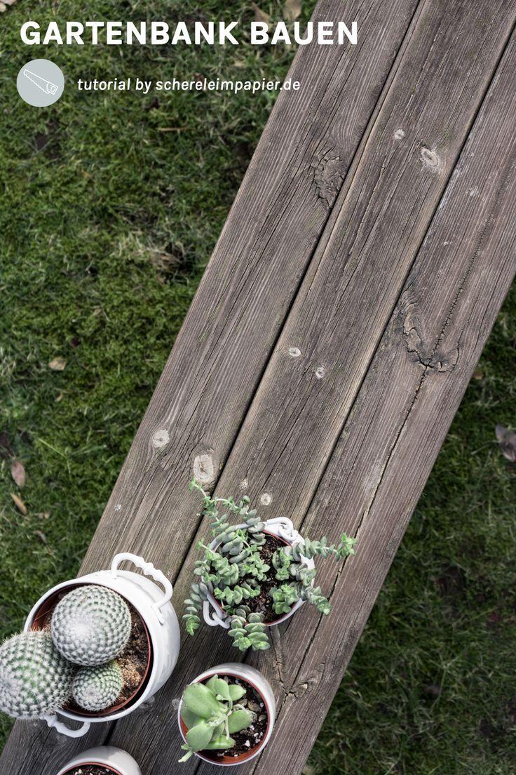 DIY Gartenbank Aus Altholz Selber Machen | DIY Möbel Für Den Garten | DIY  Wohnen |