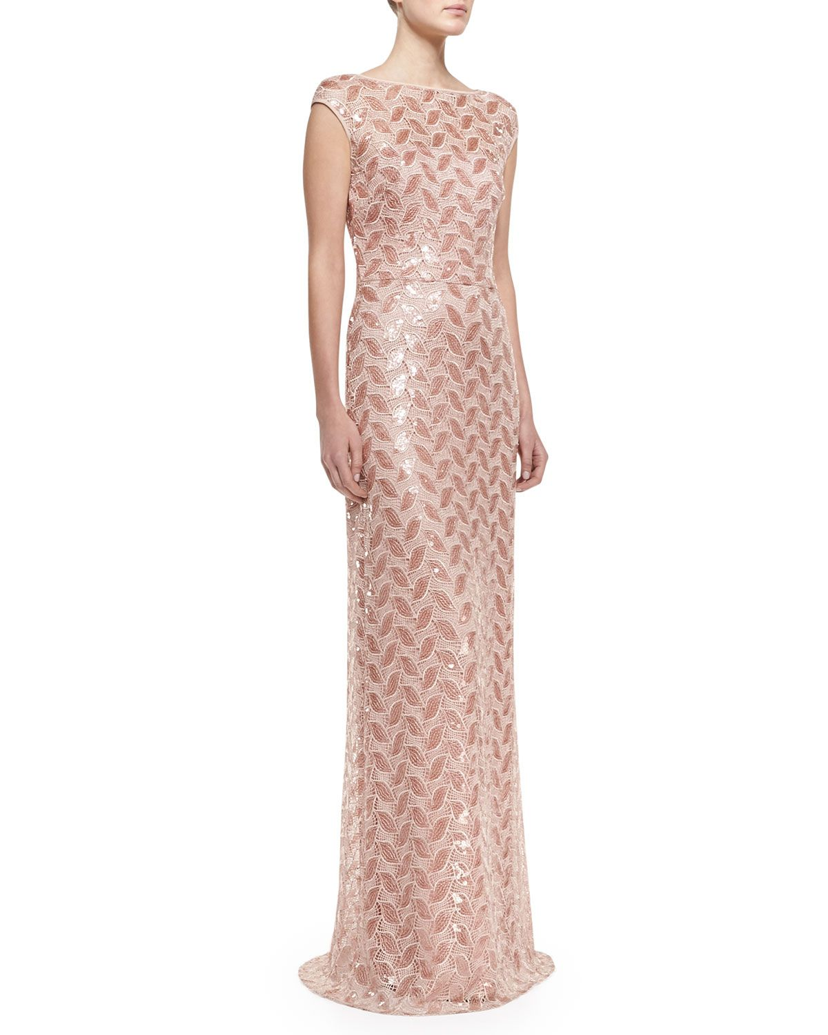 David Meister Cap-Sleeve Beaded Lace Gown in Light & Dark Pink | "|1200|1500|?|en|2|a06e8d723e5e9165689b4e72e08816ed|False|UNLIKELY|0.3465956151485443