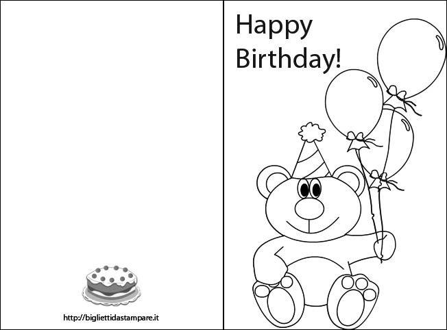 Biglietto Compleanno Da Colorare Biglietti Di Buon Compleanno Auguri Di Compleanno Compleanno