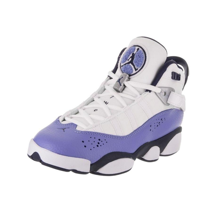 ebee7b1e4f2f8 Nike Jordan Kids Jordan 6 Rings GG Basketball Shoe (6), White ...