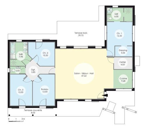Maison à l\u0027architecture bioclimatique Construction and House