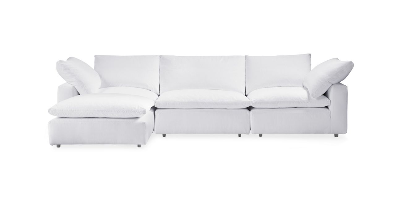 Tahoe Slipcovered Four Piece Sectional   Arhaus Furniture ...