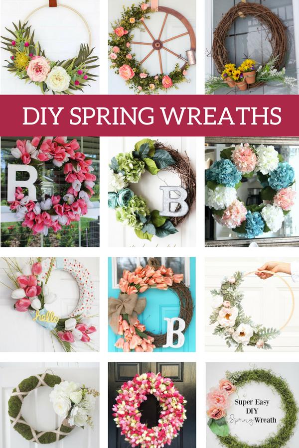 Diy Spring Wreaths To Try This Year Diy Spring Wreath Spring Door Wreaths Spring Wreaths For Front Door Diy