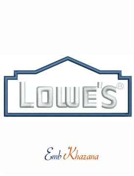 Lowes Logo Embroidery Design In 2021 Embroidery Logo Embroidery Designs Embroidery Files