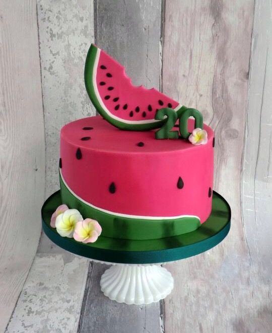 Terrific Watermelon Birthday Party Cake Watermelon Birthday Parties Funny Birthday Cards Online Inifofree Goldxyz