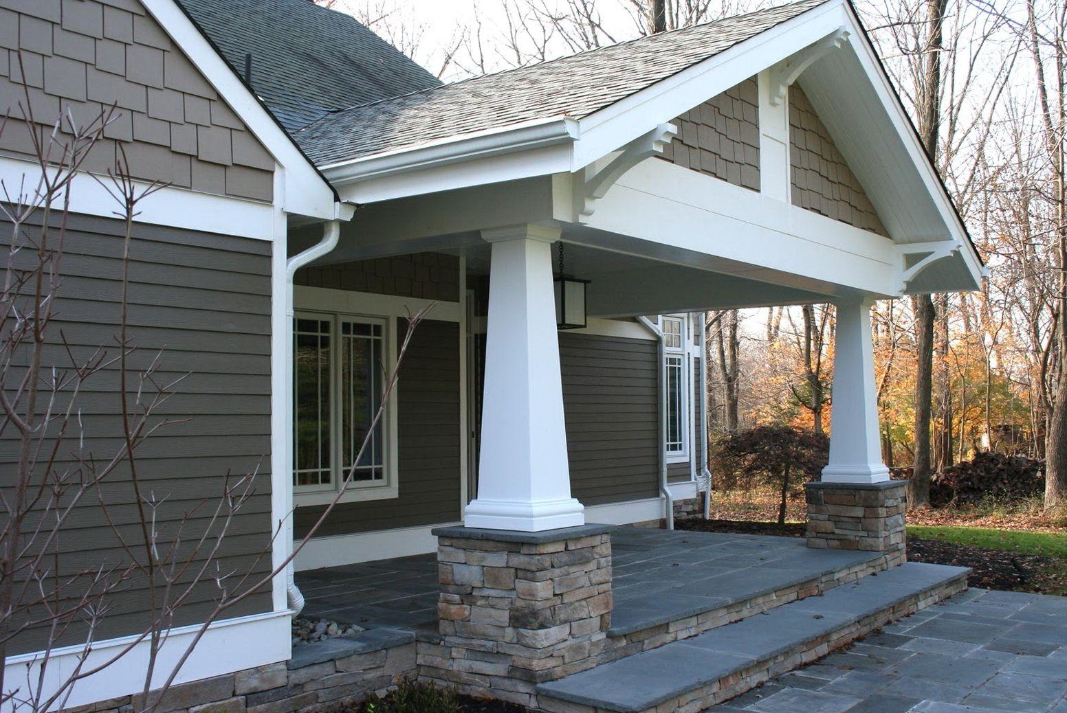 Craftsman Style Front Porch Columns Front Porch Porch Front