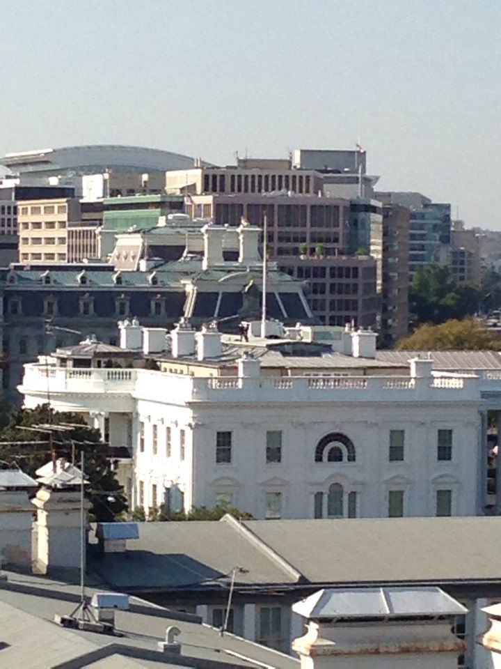 Best view in DC besides from the top of the monument (close to White House)