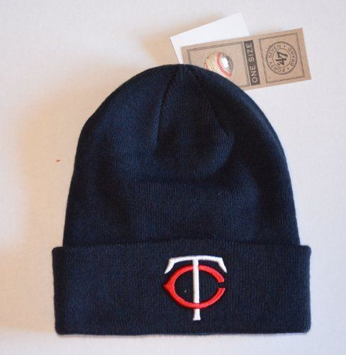 3307a32a7d9 Minnesota Twins Blue Beanie Hat - MLB Cuffed Knit Toque Cap by Forty Seven   47