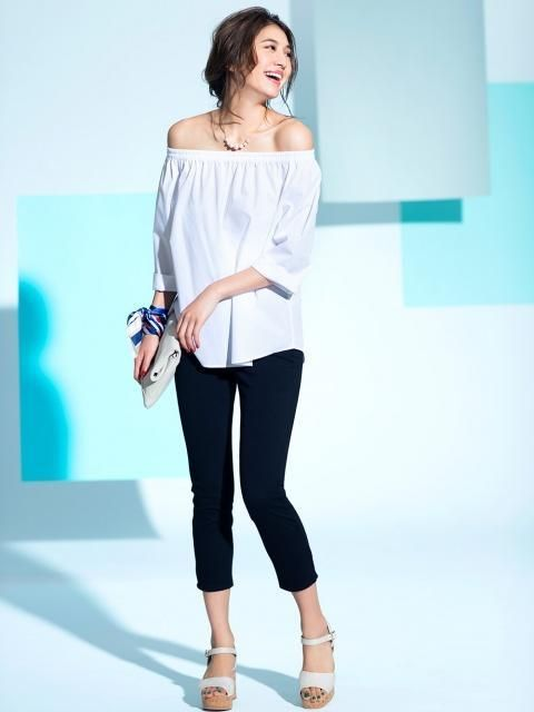 2d16ab3ca3b Turn heads with our trendy summer favorite, our Extra Fine Cotton 3/4 Sleeve  Off Shoulder Blouse.