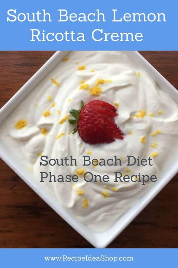 South Beach Lemon Ricotta Creme | Recipe Idea Shop