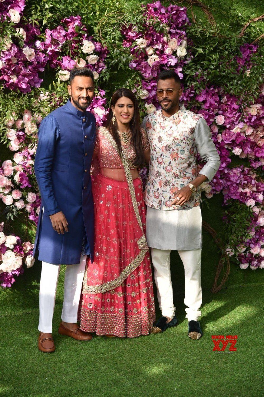 Mumbai Krunal Pandya And Hardik Pandya At Akash Shloka Wedding Festivities Batch 42 Gallery Social News Xyz Wedding Wedding Outfit Pink Outfits