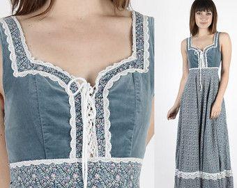 Gunne Sax Dress Prairie Dress Boho Dress Boho by AmericanArchive