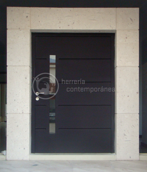 Puertas contempor neas ptc09 cervantes pinterest for Puertas de herreria minimalistas