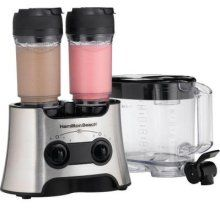 Dual Wave Versatile Blender. This thing blends your smoothies or shakes in the cup! It can also blend in an 80 oz pitcher, and one cup at a time.