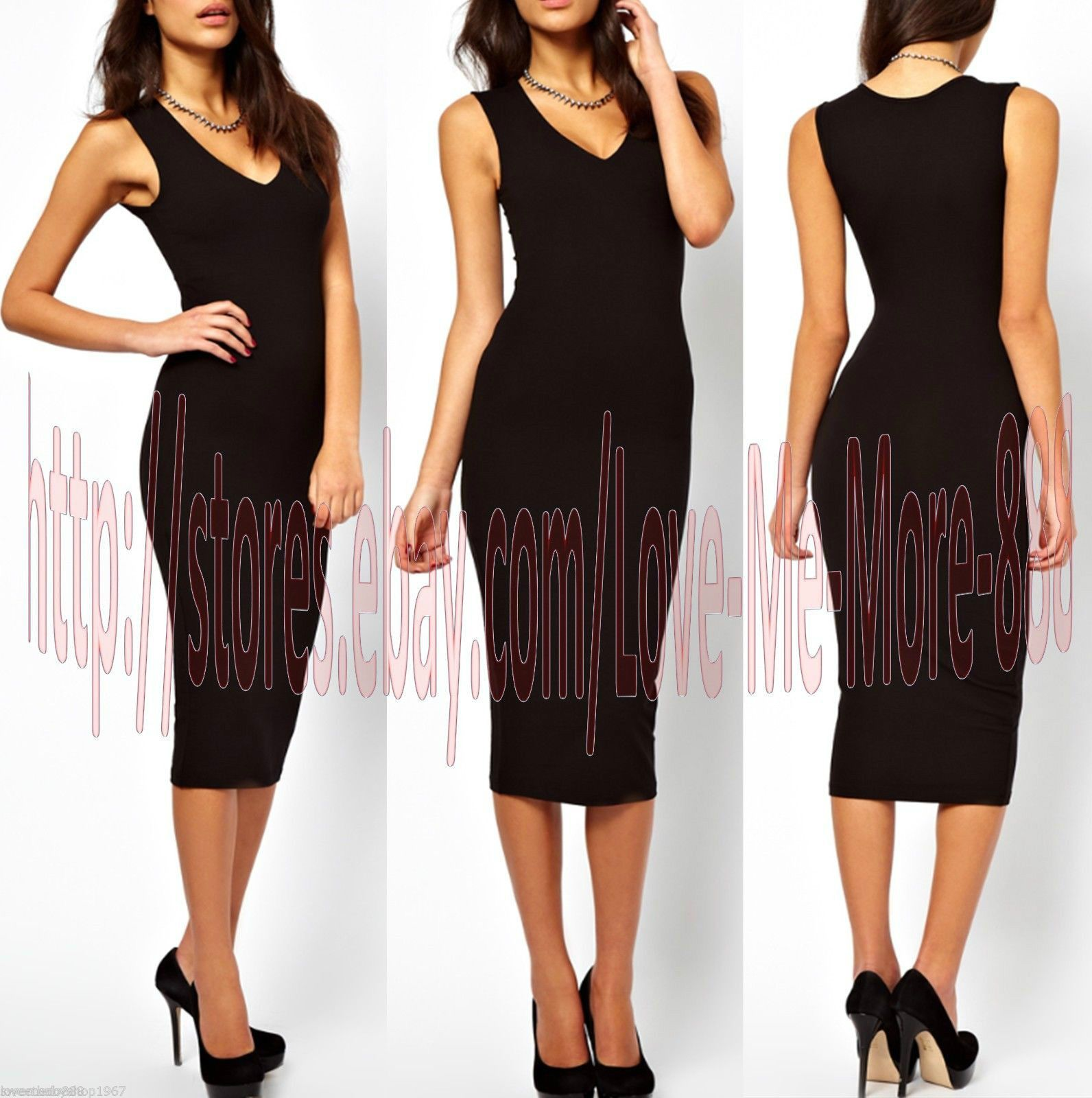Awesome awesome womens v plunge wear to work casual club tight slim