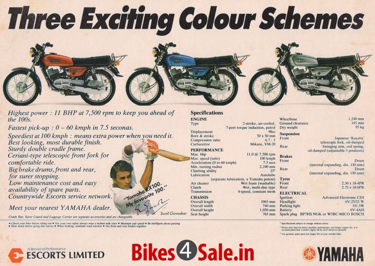 Yamaha Rx100 Print Ad Yamaha Rx100 Yamaha Vintage Advertisements