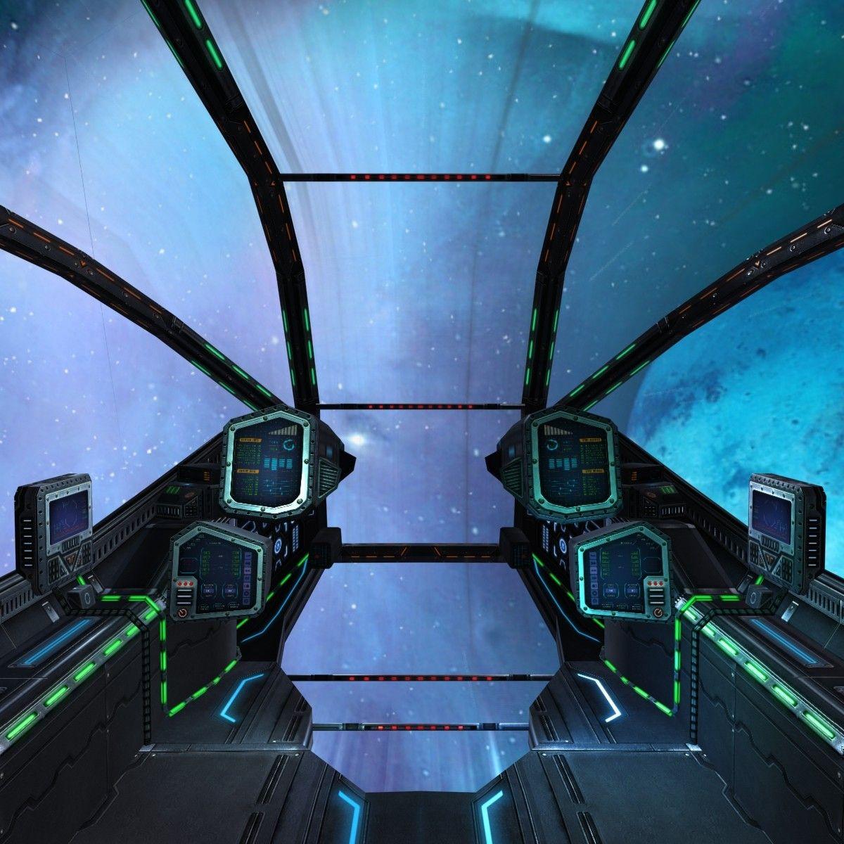 Sci Fi Spaceship Cockpits 3ds 3d Model Spaceship Interior