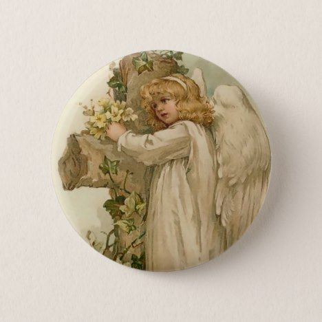 Vintage easter angel round button easter accessories easter vintage easter angel round button easter accessories negle Choice Image