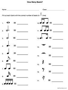 Music Math Worksheets Assessments Beth S Notes Music Math Math Worksheets Teaching Music