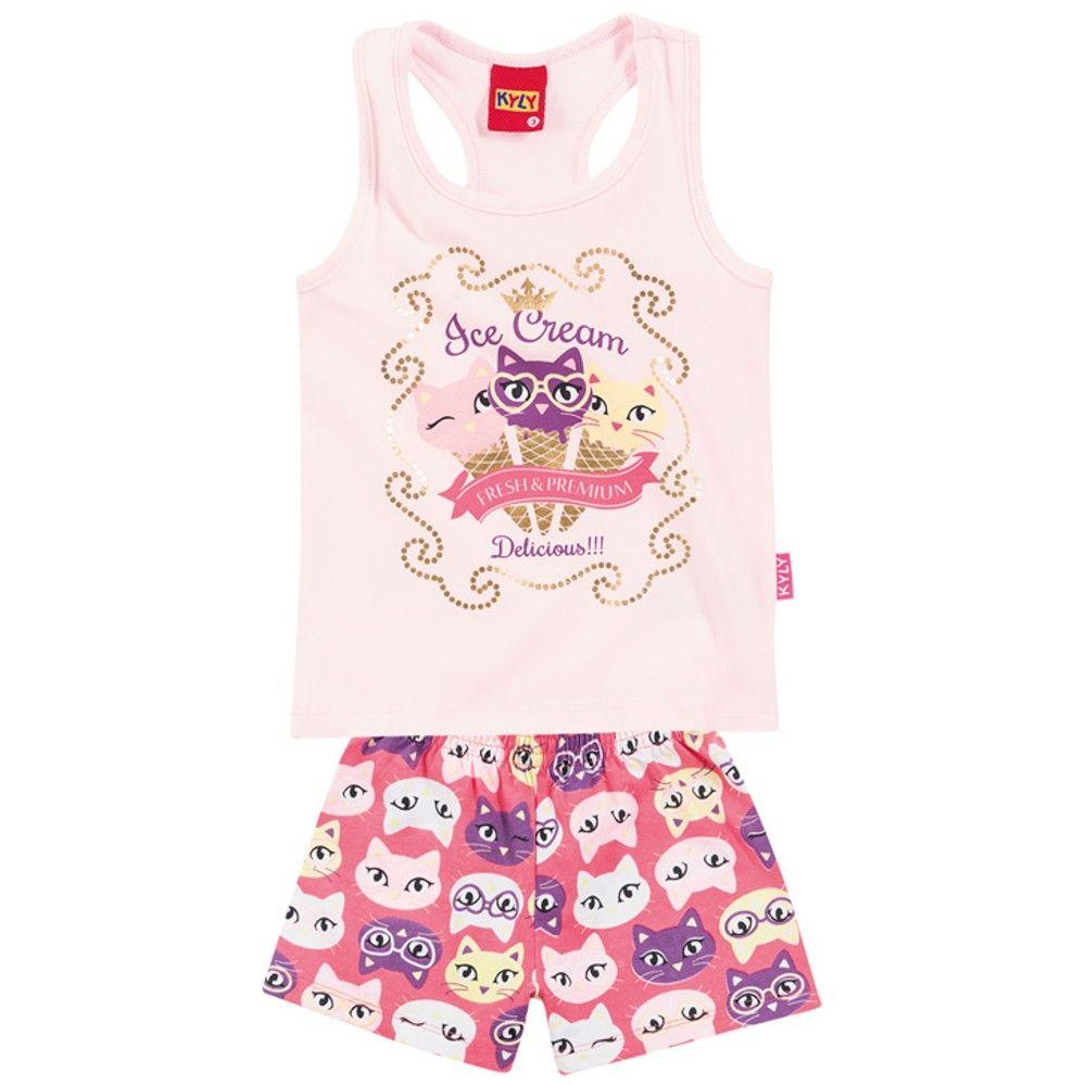 f32813a36a Conjunto infantil menina em cotton - Kyly