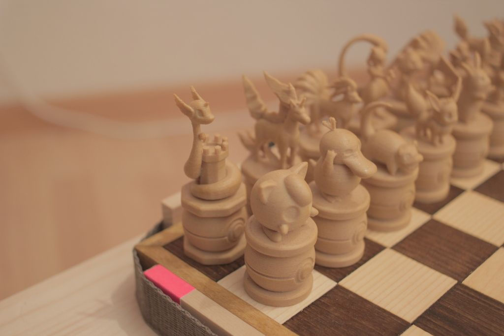 Pokemon Chess Set by sch00f Thingiverse 3d druck