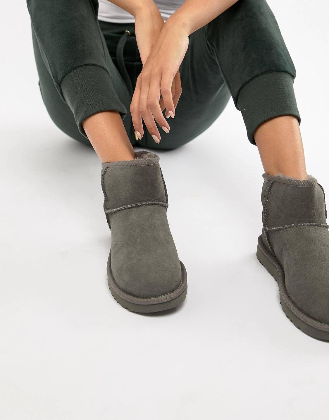 Ugg classic mini, Ugg boots, Grey boots