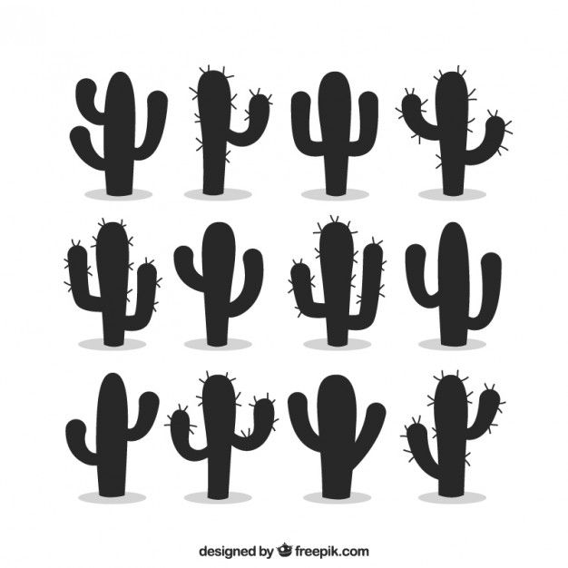 Download Silhouettes Of Cactus For Free Cactus Silhouette Silhouette Stencil Cactus Vector
