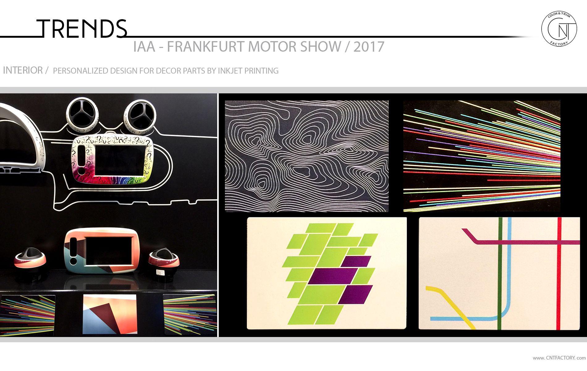2017 Frankfurt Motor Show Color Trim Trends Automotive Design Inkjet Printing Design Trim