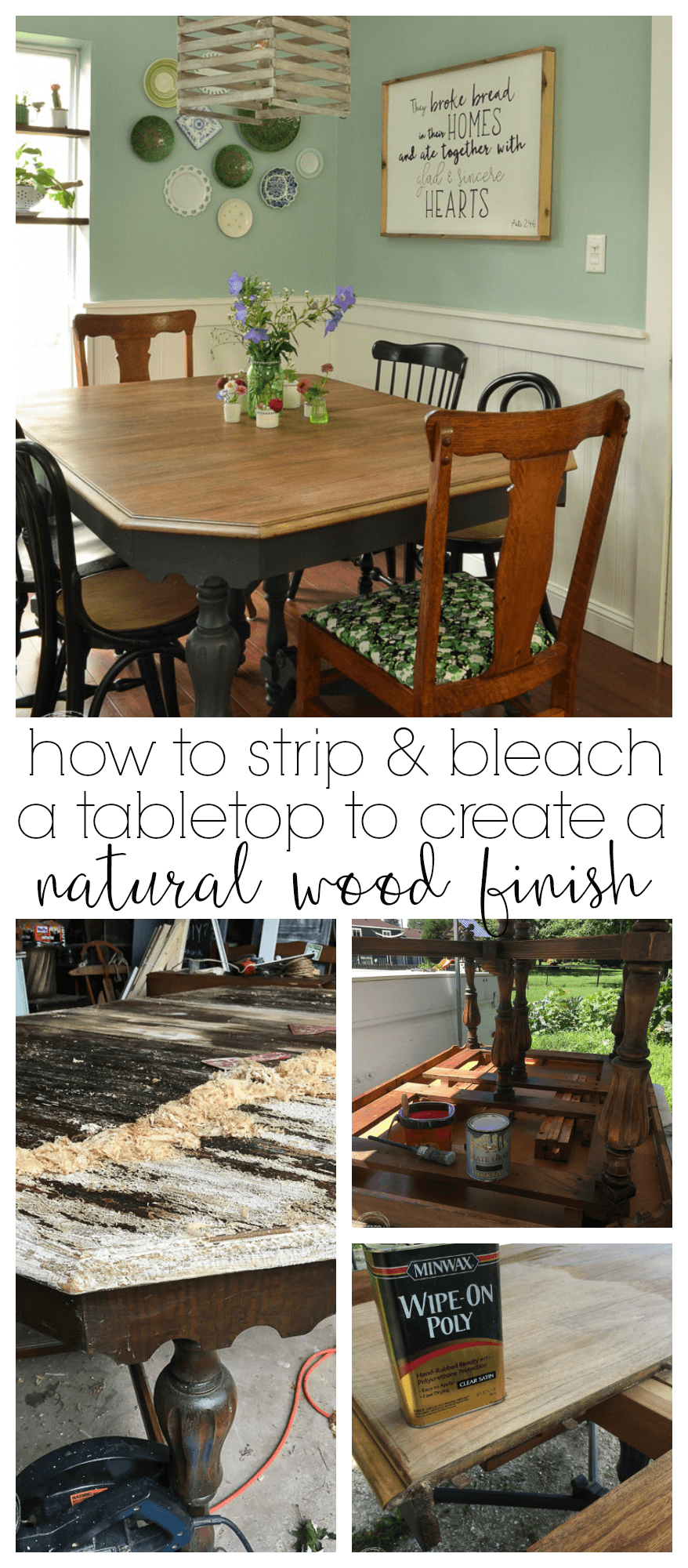 refinished farmhouse dining table refresh living pinterest rh pinterest com Refinish Oak Dining Table Repainting Dining Room Table