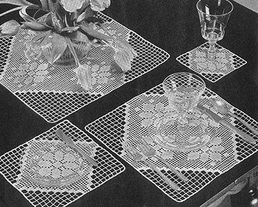 Quadrados modernos almoço Set padrão # 7264