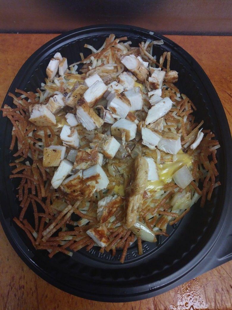 Waffle House Chicken N Cheese Hashbrown Bowl Food N Waffle