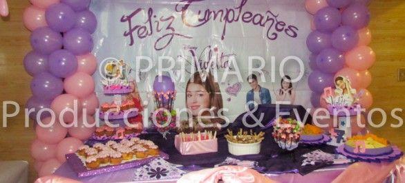 Decoración de violetta Disney para cumpleaños - Imagui