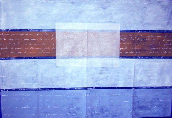 Mario banner, acrilico su tela cm.120x80