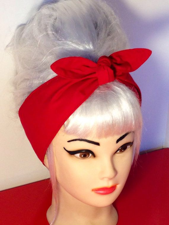 Red Headband Pinup Vintage Retro Style 50s by 3DROPSOFPOISON f24b595eb8c