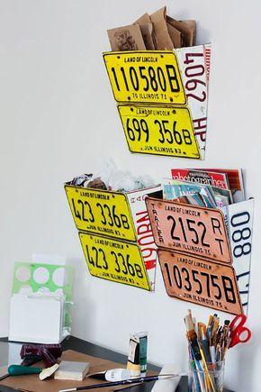 Portariviste Fai Da Te: 20 Bellissime Idee Creative | License Plates And  Craft