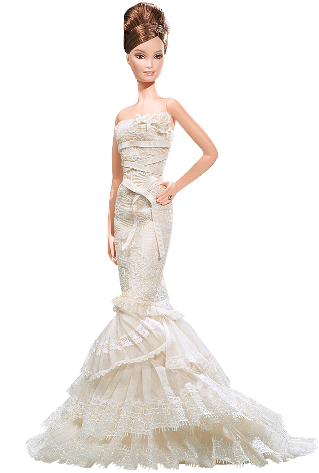Vera Wang™ Bride: The Romanticist Barbie® Doll 2008 | Barbie at her ...
