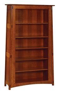 Amish 76 Open Mccoy Mission Bookcase Amish Furniture Bookcase Mission Furniture