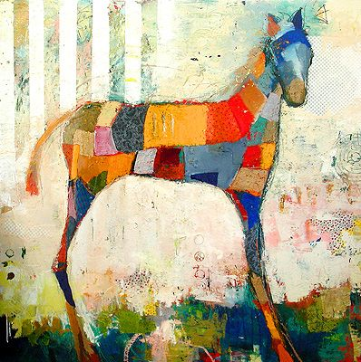 patchwork art-This is so different than what I would usually do...and I love it....