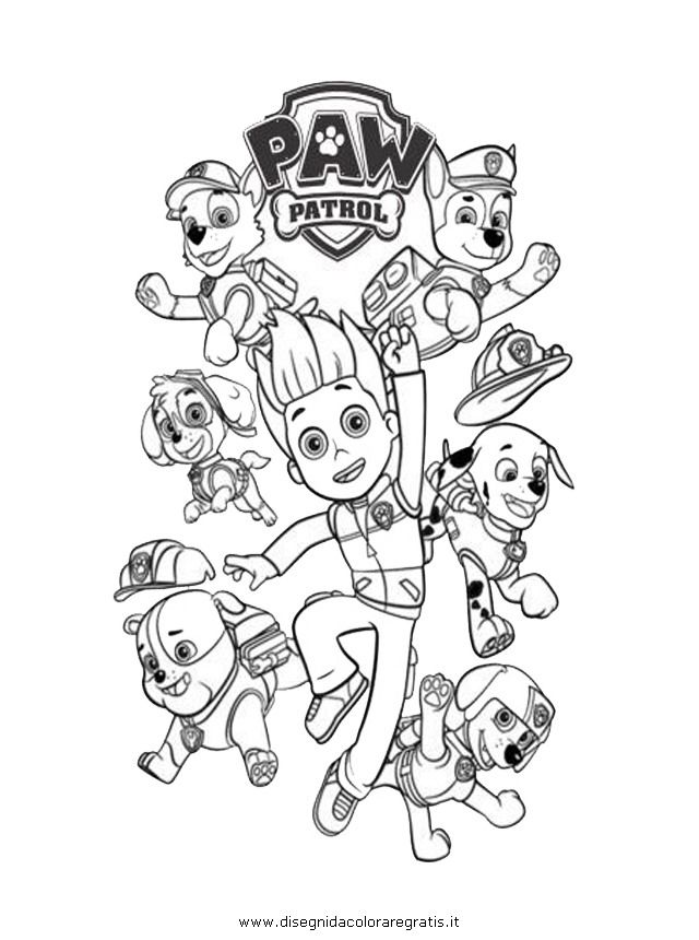 Free Coloring Pages Of Paw Patrol Team Paw Patrol Coloring